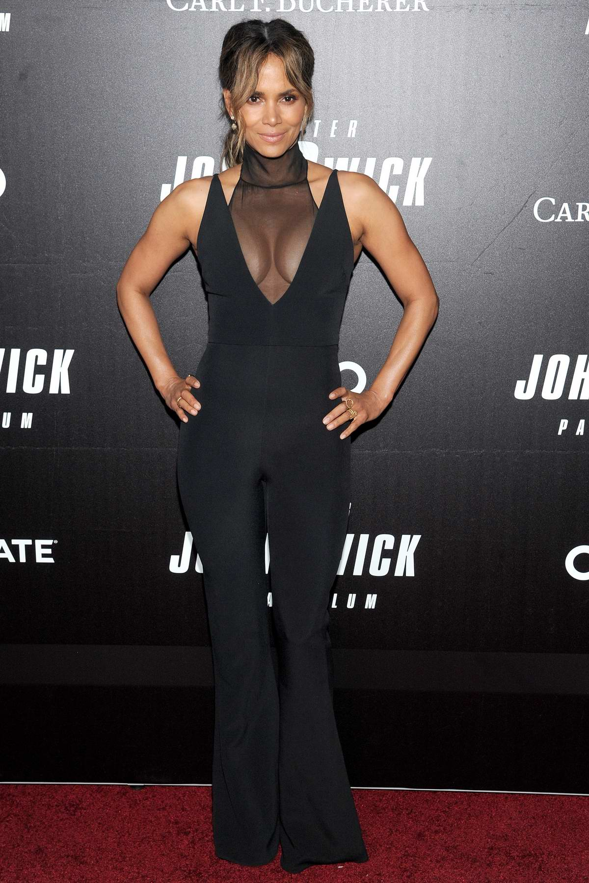 Halle Berry attends the 'John Wick: Chapter 3' World Premiere at One Hanson Place in New York City