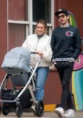 Hilary Duff and Matthew Koma enjoys a stroll with their daughter in New York City