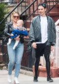 Hilary Duff and Matthew Koma steps out for a stroll with their daughter in New York City