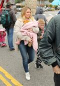 Hilary Duff enjoys Memorial Day weekend at the Farmer's Market with her family in Los Angeles