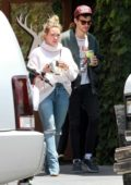 Hilary Duff starts off her day with a trip to Alfred's Coffee with Matthew Koma in Los Angeles