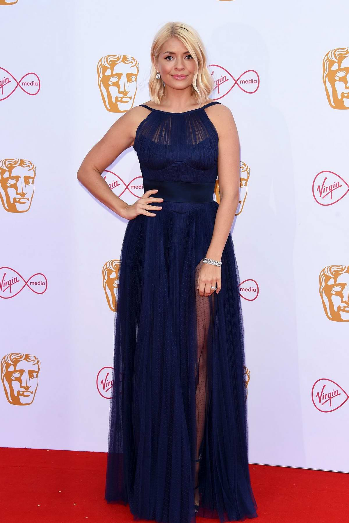 Holly Willoughby attends the 2019 British Academy Television Awards at Royal Festival Hall in London, UK