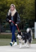 Ireland Baldwin takes her dog to a park with Corey Harper in Los Angeles