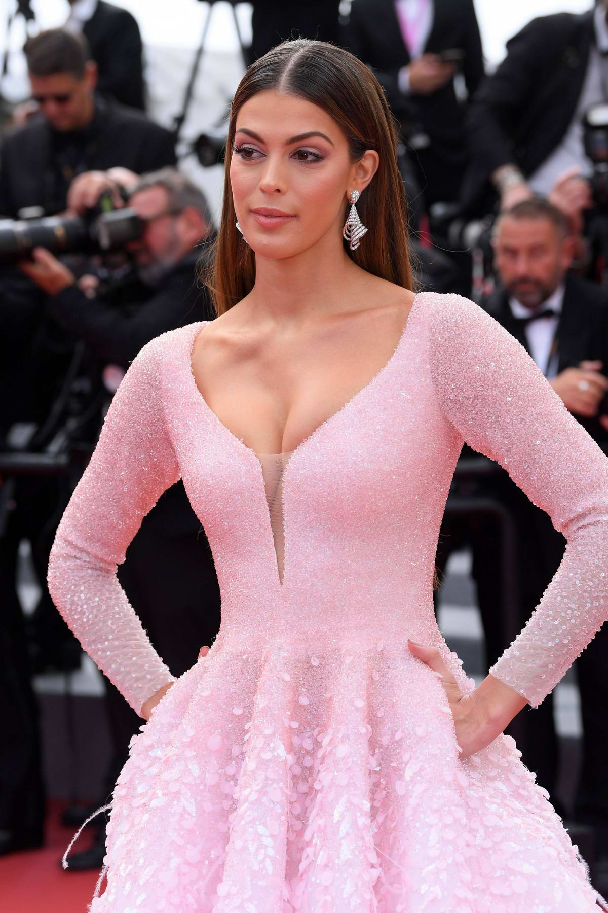 Iris Mittenaere attends the screening of 'Oh Mercy! (Roubaix, une Lumiere)' during the 72nd annual Cannes Film Festival in Cannes, France