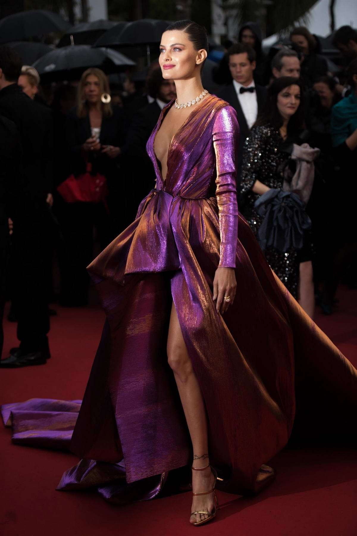 Isabeli Fontana attends the screening of 'Les Plus Belles Annees D'Une Vie' during the 72nd annual Cannes Film Festival in Cannes, France