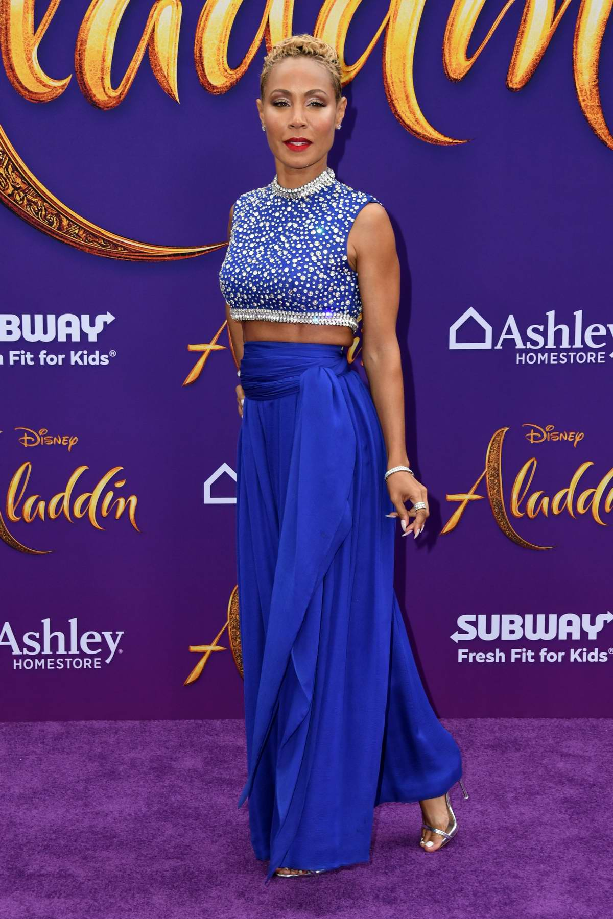 Jada Pinkett Smith attends the World Premiere of Disney's 'Aladdin' at the El Capitan Theater in Hollywood, California