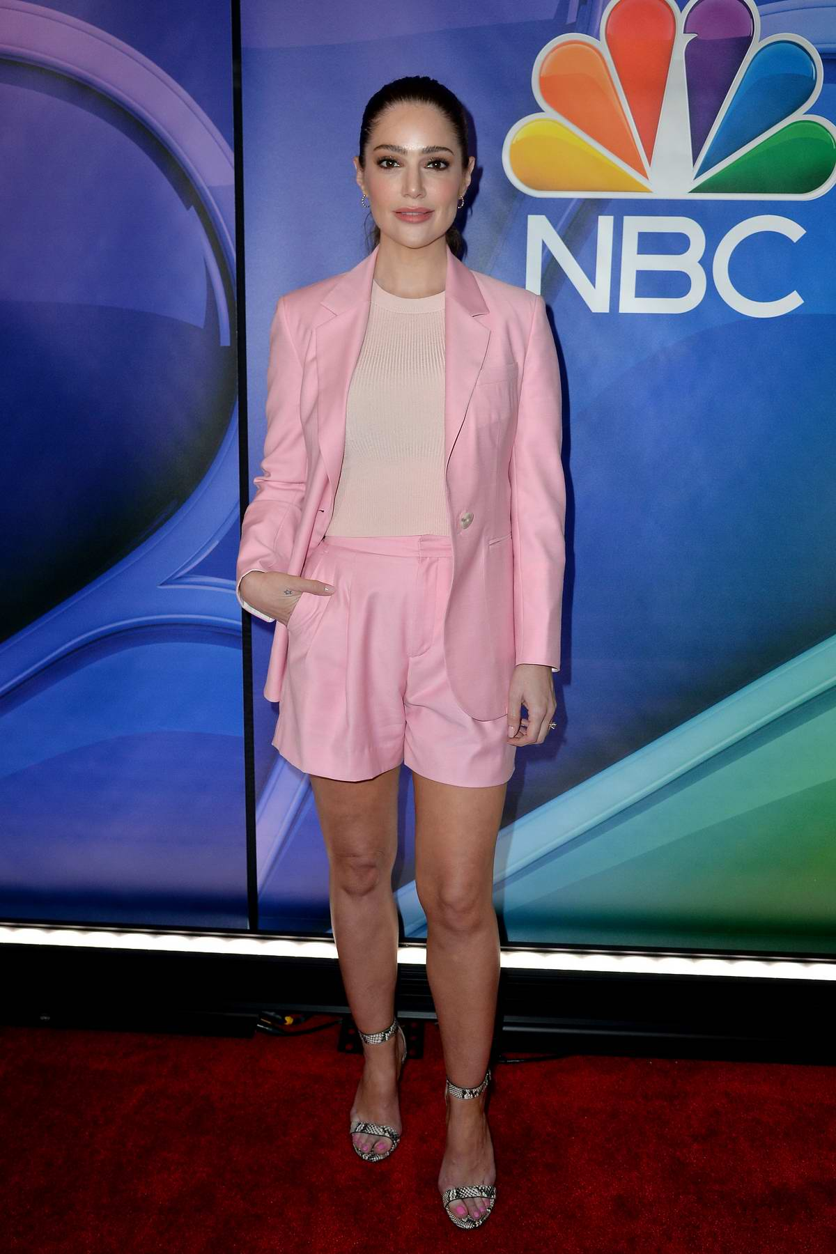 Janet Montgomery attends the NBCUniversal Upfront Presentation at Four Seasons Hotel in New York City