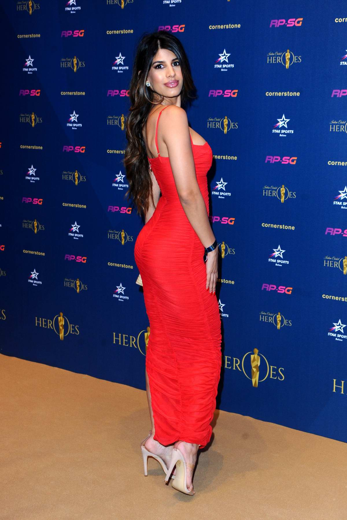 Jasmin Walia attends the Indian Cricket Heroes Awards Night at Lords Cricket Ground in London, UK