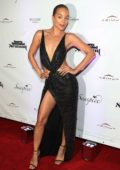 Jasmine Sanders attends Sports Illustrated Swimsuit 2019 Issue Launch at Seaspice in Miami, Florida