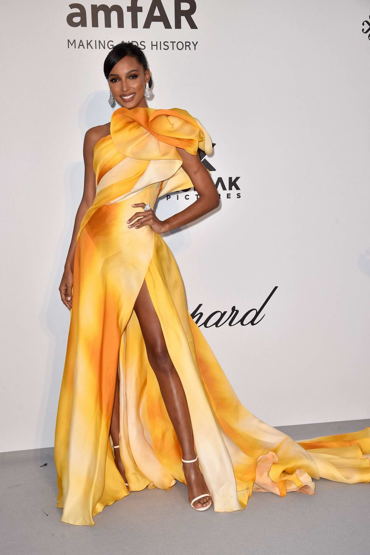 Jasmine Tookes attends the 26th amfAR Gala held at Hotel du Cap-Eden-Roc during the 72nd annual Cannes Film Festival in Cannes, France