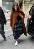 Jenna Coleman arrives for Graham Norton's Radio 2 show in London, UK