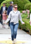 Jennifer Garner shows off her dancing skills as she promotes Red Nose Day while out in Brentwood, Los Angeles