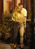 Jennifer Lawrence and Cooke Maroney enjoy sushi on a date night in the East Village, New York City