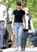 Jennifer Lawrence keeps thing casual in a tee, jeans and sneakers while apartment hunting with friends in New York City