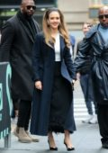 Jessica Alba is all smiles while visiting AOL Build Series in New York City
