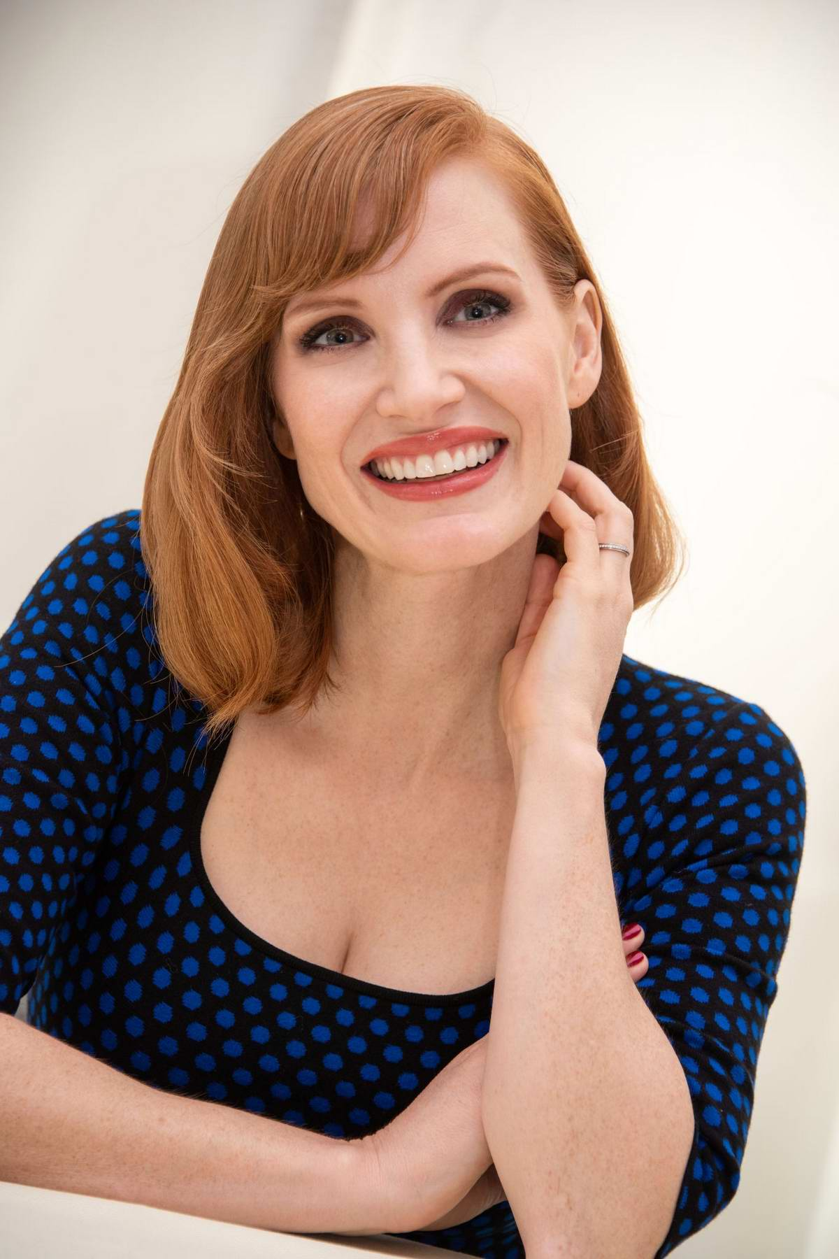 Jessica Chastain attends the 'X-Men: Dark Phoenix' Press Conference at the Mandarin Oriental Hotel in London, UK