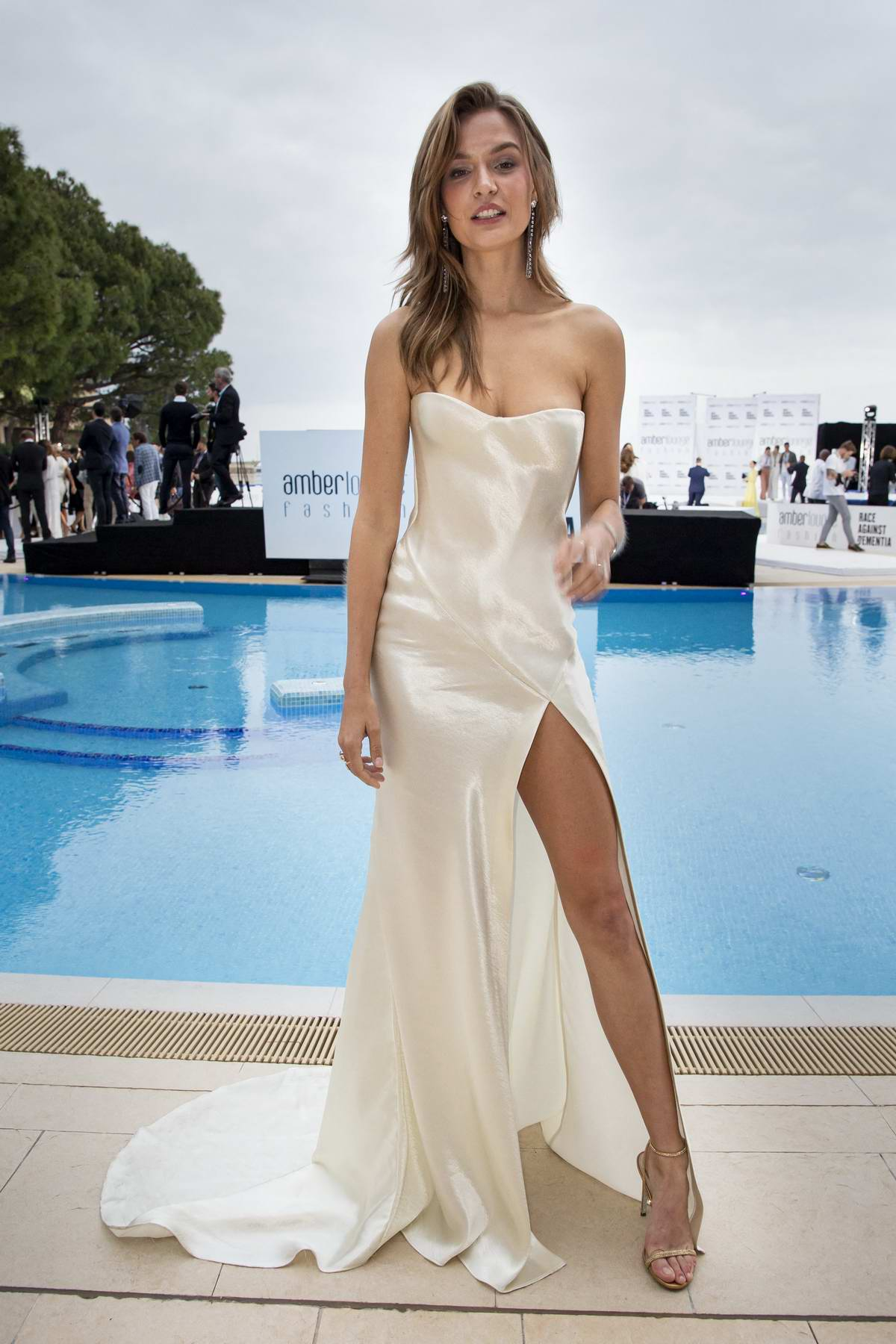 Josephine Skriver attends the Amber Lounge Fashion show held at the Hotel Meridien in Monte Carlo, Monaco