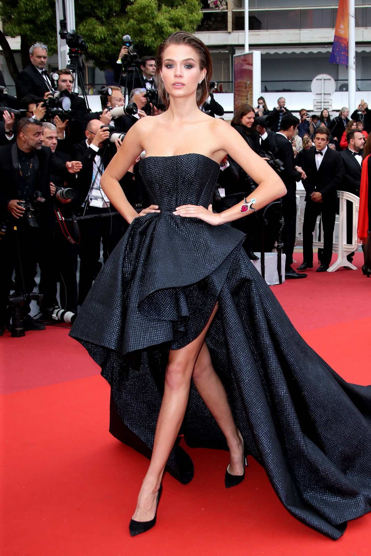Josephine Skriver attends the screening of 'A Hidden Life' during the 72nd annual Cannes Film Festival in Cannes, France