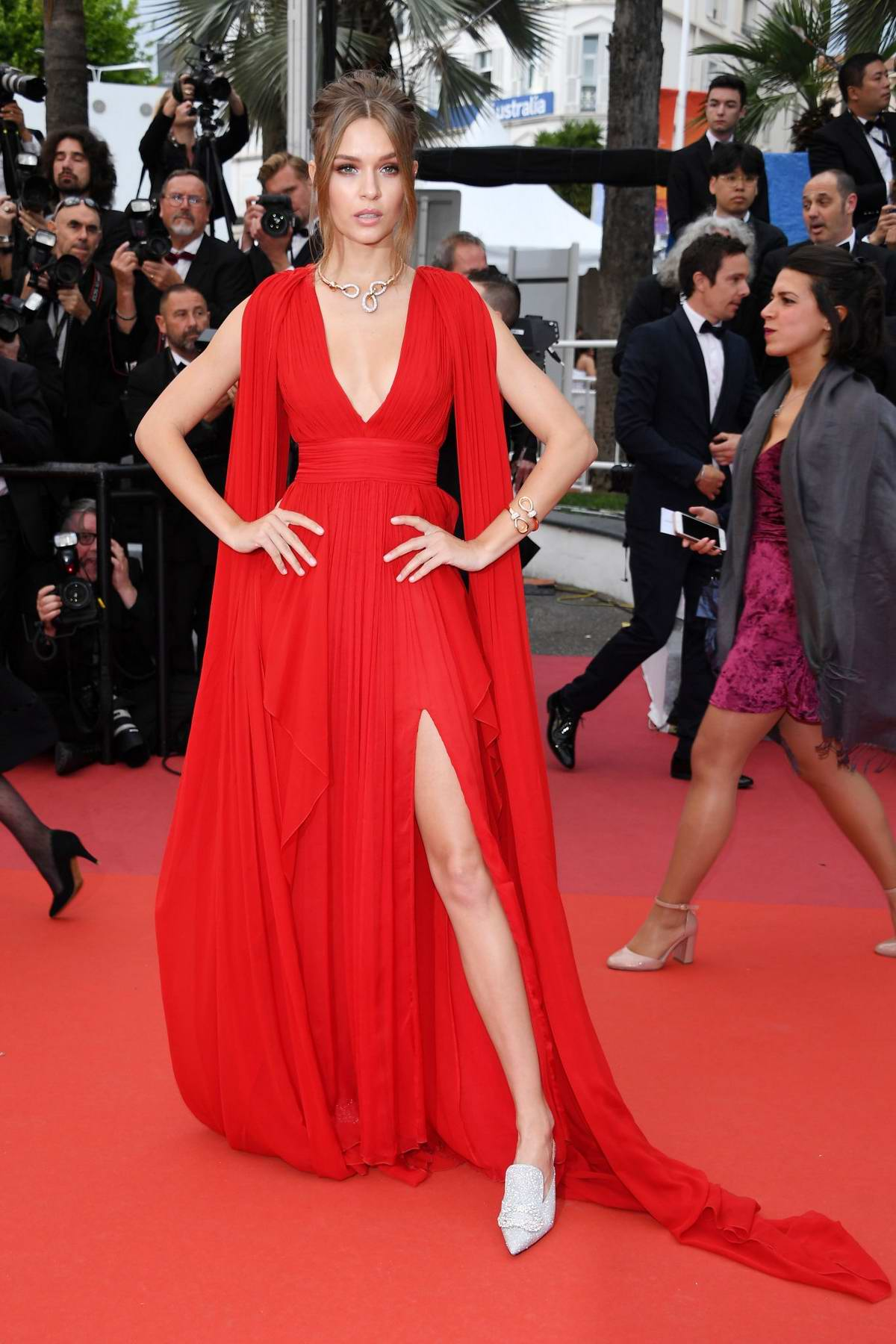 Josephine Skriver attends the screening of 'La Belle Epoque' during the 72nd annual Cannes Film Festival in Cannes, France