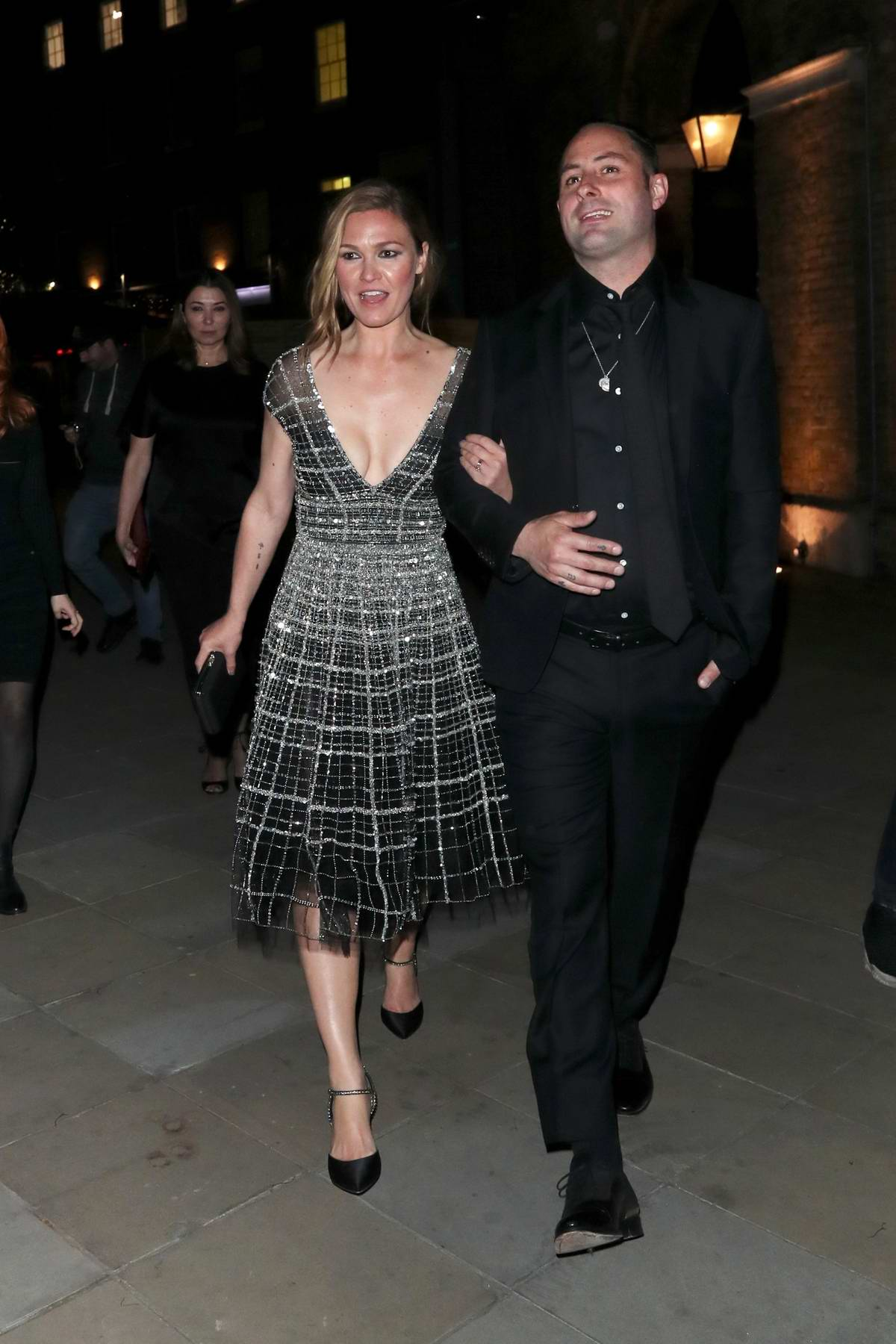 Julia Stiles attends 'Riviera' Season Two premiere hosted at Saatchi Gallery in London, UK