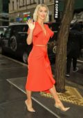 Julianne Hough looks striking in orange as she steps out in New York City