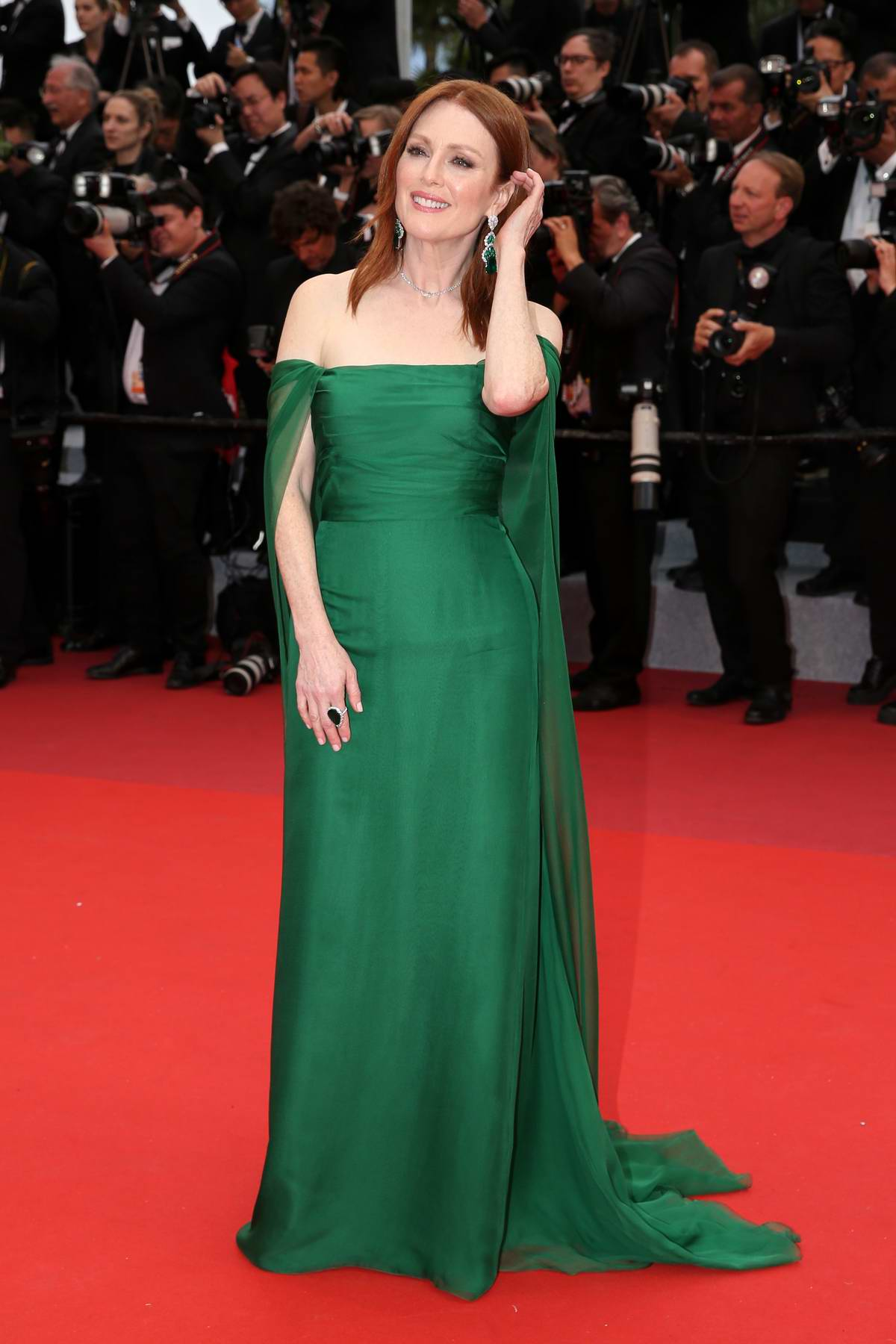 Julianne Moore attends 'The Dead Don't Die' Premiere during The 72nd annual Cannes Film Festival in Cannes, France