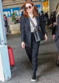 Julianne Moore touches down at Nice airport ahead of the 72nd Cannes Film Festival, France