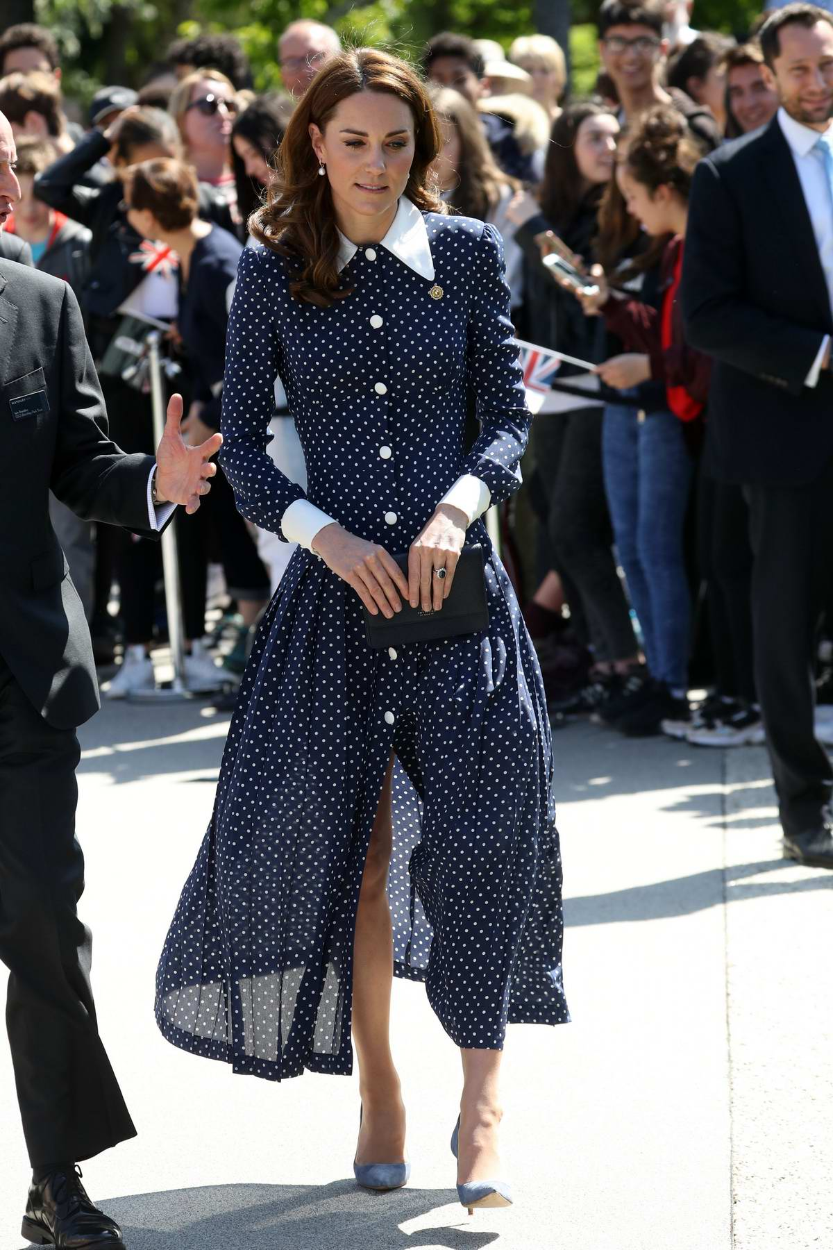 Kate Middleton visits an exhibition marking the 75th anniversary of D-Day at Bletchley Park in Milton Keynes, Buckinghamshire, UK
