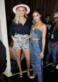 Kate Upton, Olivia Culpo and Tyra Banks at the '2019 Sports Illustrated Swimsuit On Location' Day 2 at Ice Palace in Miami, Florida