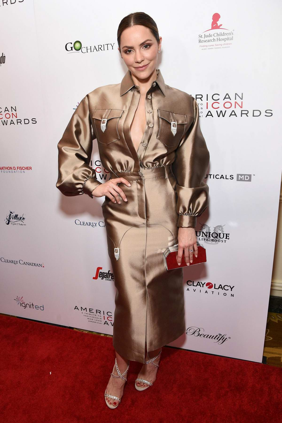 Katharine McPhee attends the American Icon Awards at Beverly Wilshire Four Seasons Hotel in Beverly Hills, Los Angeles