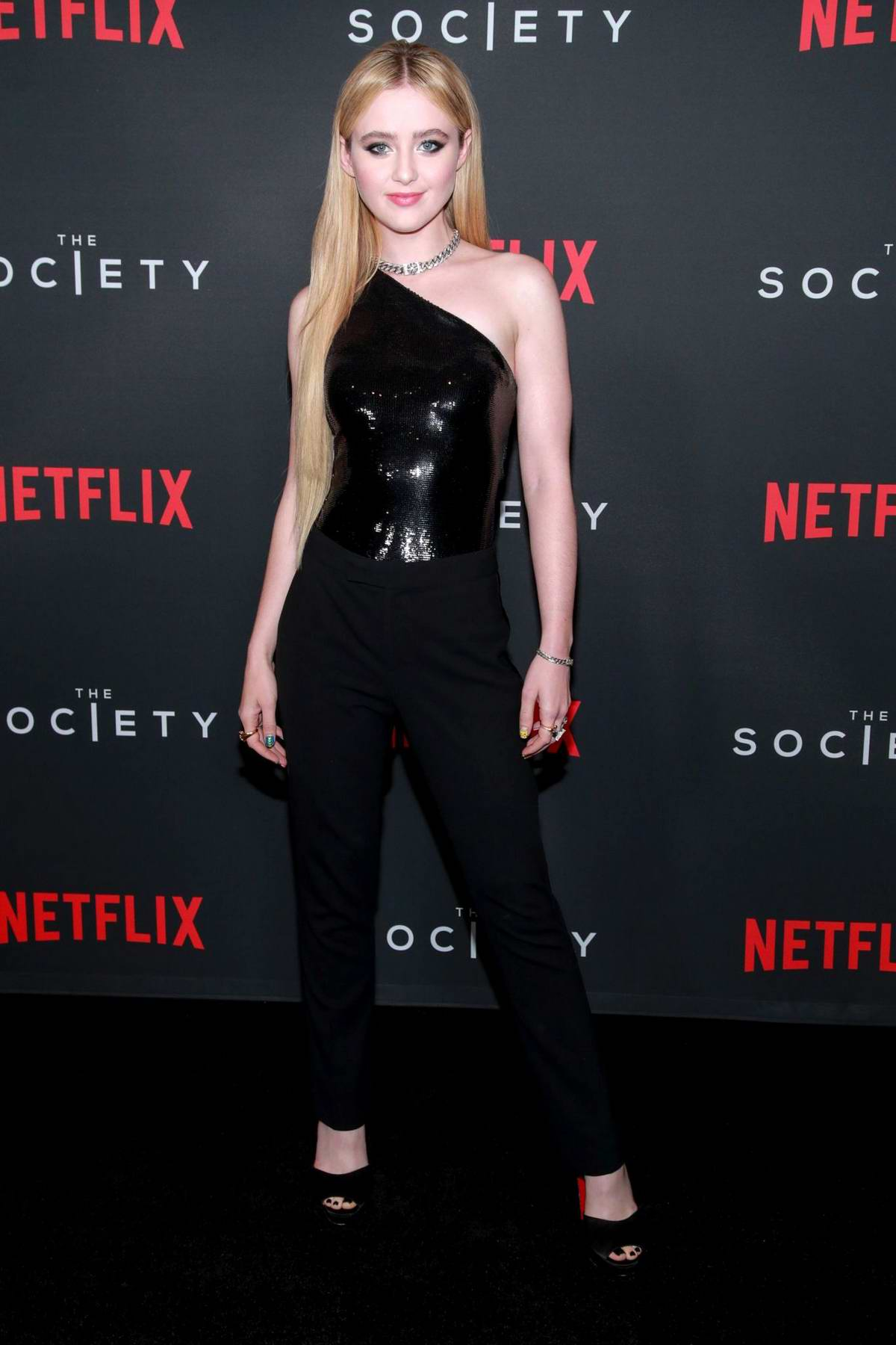 Kathryn Newton attends the special screening for Netflix's 'The Society' Season 1 at Regal Cinemas LA Live in Los Angeles