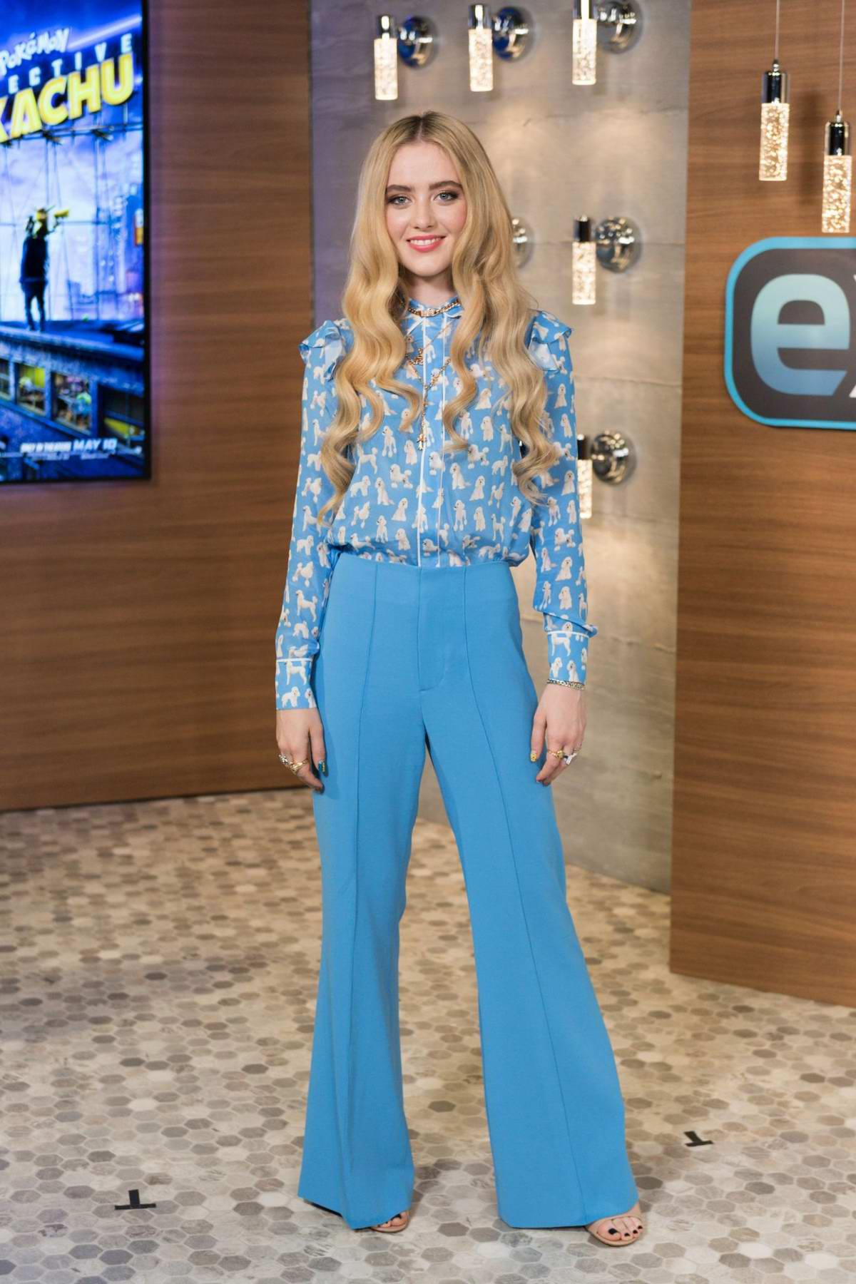 Kathryn Newton visits 'Extra' at Universal Studios Hollywood in Universal City, California