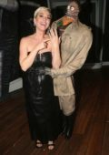 Katy Perry seen backstage at 'Beetlejuice' on Broadway at The Winter Garden Theater in New York City
