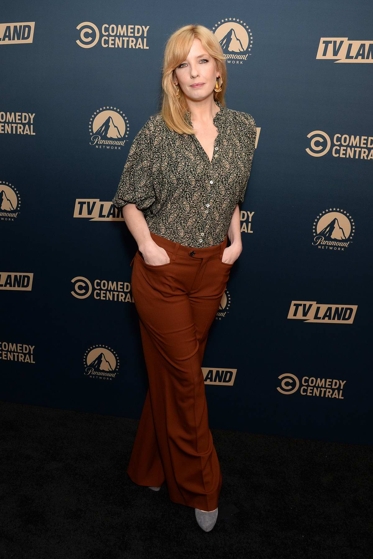 Kelly Reilly attends the Comedy Central, Paramount Network and TV Land Press Day in Los Angeles
