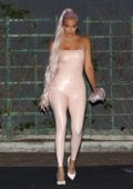 Khloe Kardashian spotted leaving the launch event of 'Kylie Skin' at Goya Studios in West Hollywood, Los Angeles