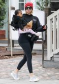 Khloe Kardashian takes baby True out for a lunch date in Calabasas, California