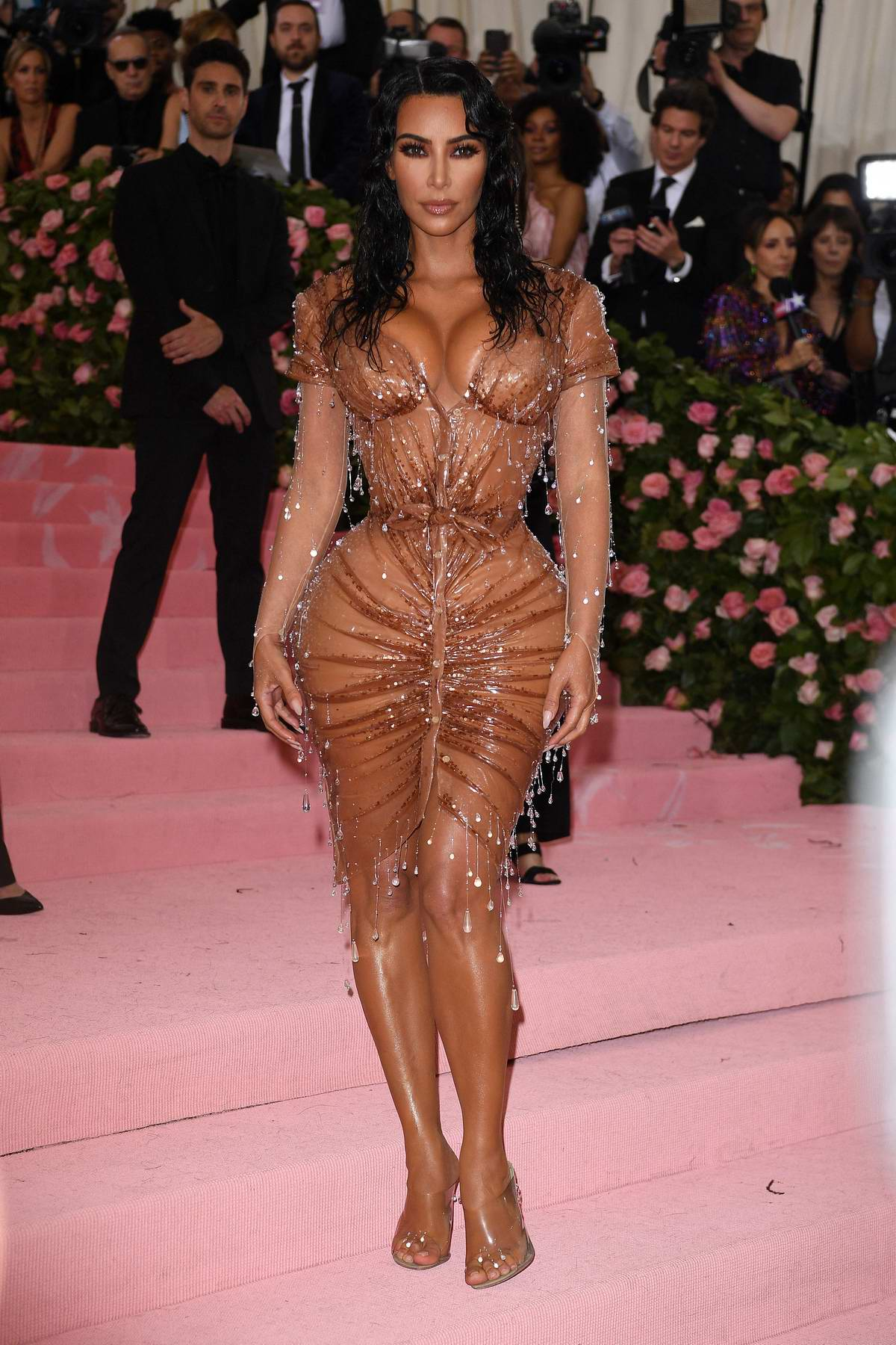 Kim Kardashian attends The 2019 Met Gala Celebrating Camp: Notes on Fashion in New York City