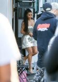 Kim Kardashian makes a cameo in Paris Hilton's music video shoot in Los Angeles