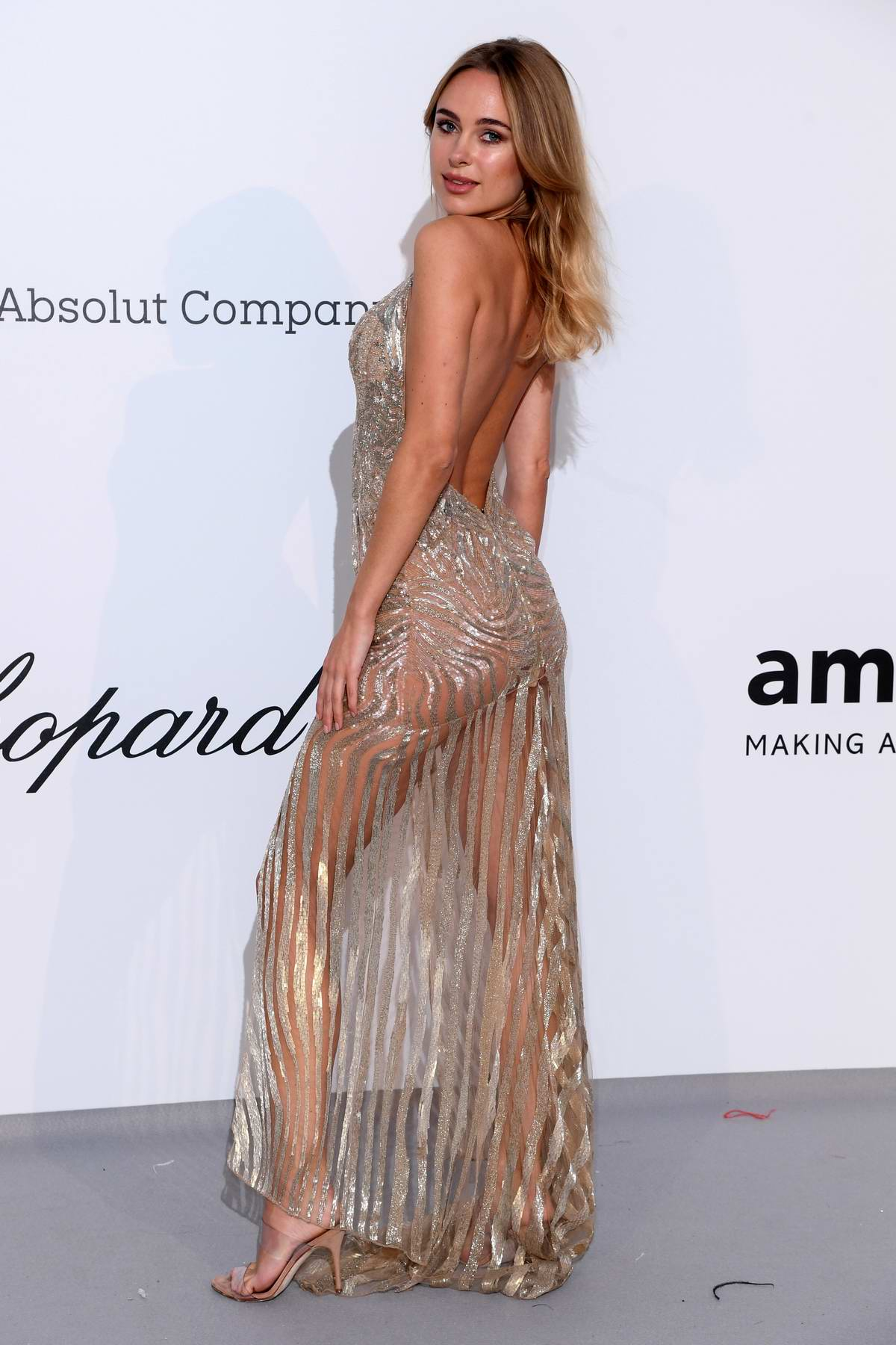 Kimberley Garner attends the 26th amfAR Gala held at Hotel du Cap-Eden-Roc during the 72nd annual Cannes Film Festival in Cannes, France