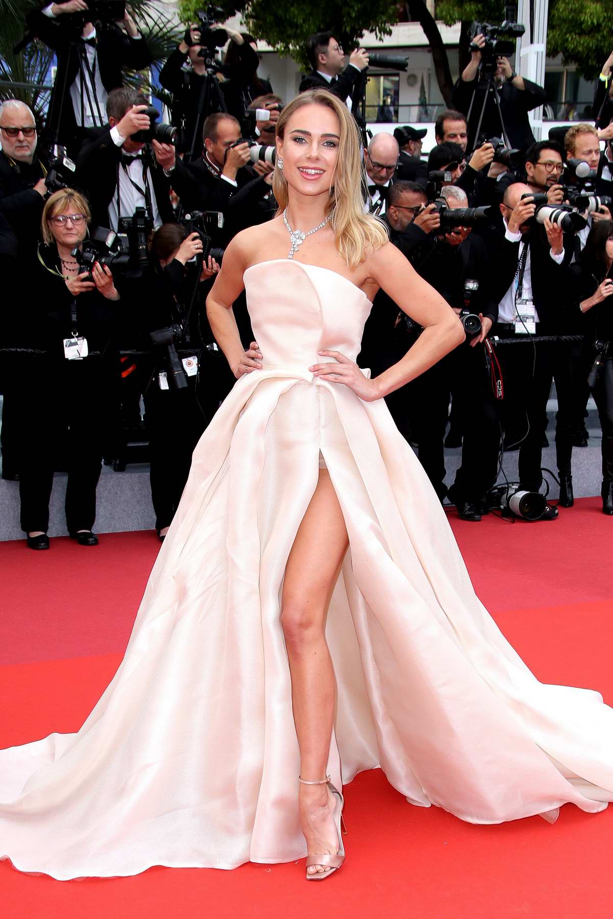 Kimberley Garner attends the screening of 'A Hidden Life' during the 72nd annual Cannes Film Festival in Cannes, France