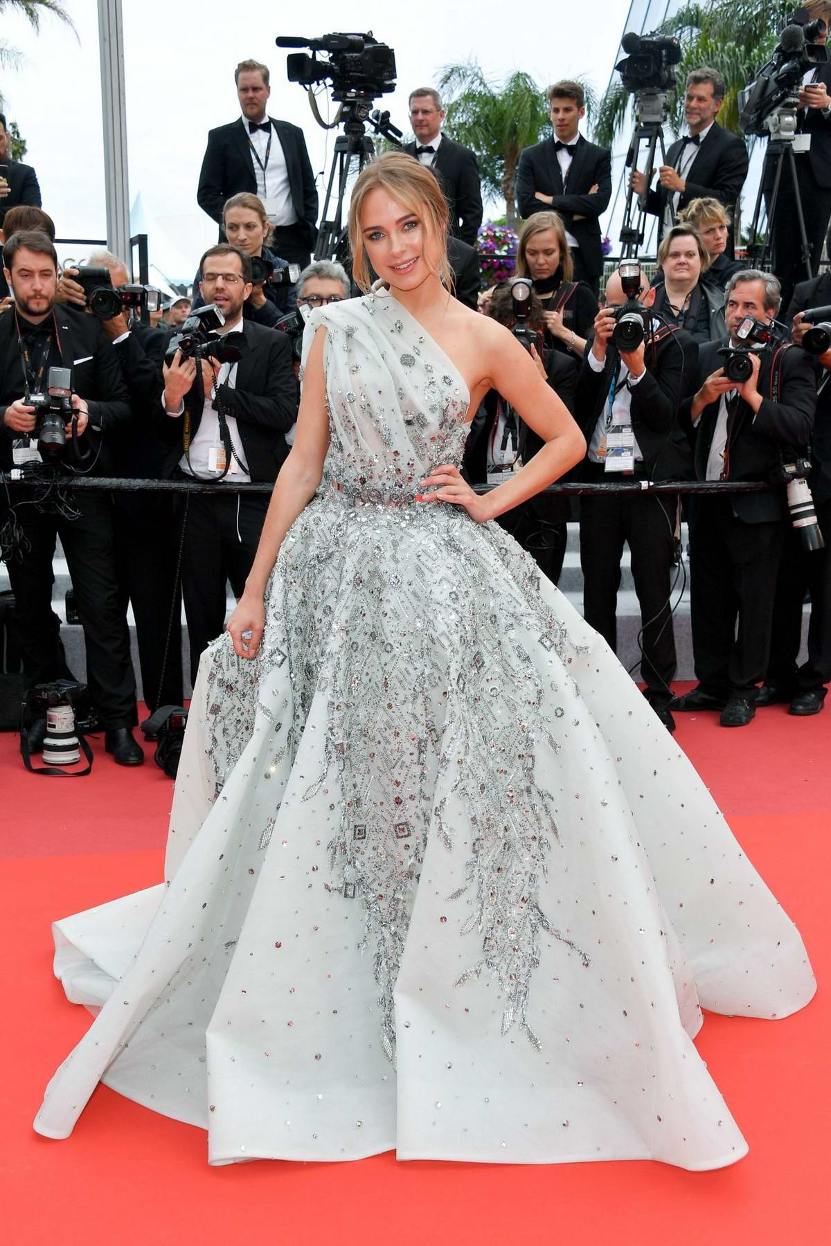 Kimberley Garner attends the screening of 'La Belle Epoque' during the 72nd annual Cannes Film Festival in Cannes, France