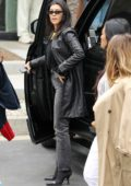 Kourtney Kardashian dons all-black as she arrives at Sunday church service in Calabasas, California