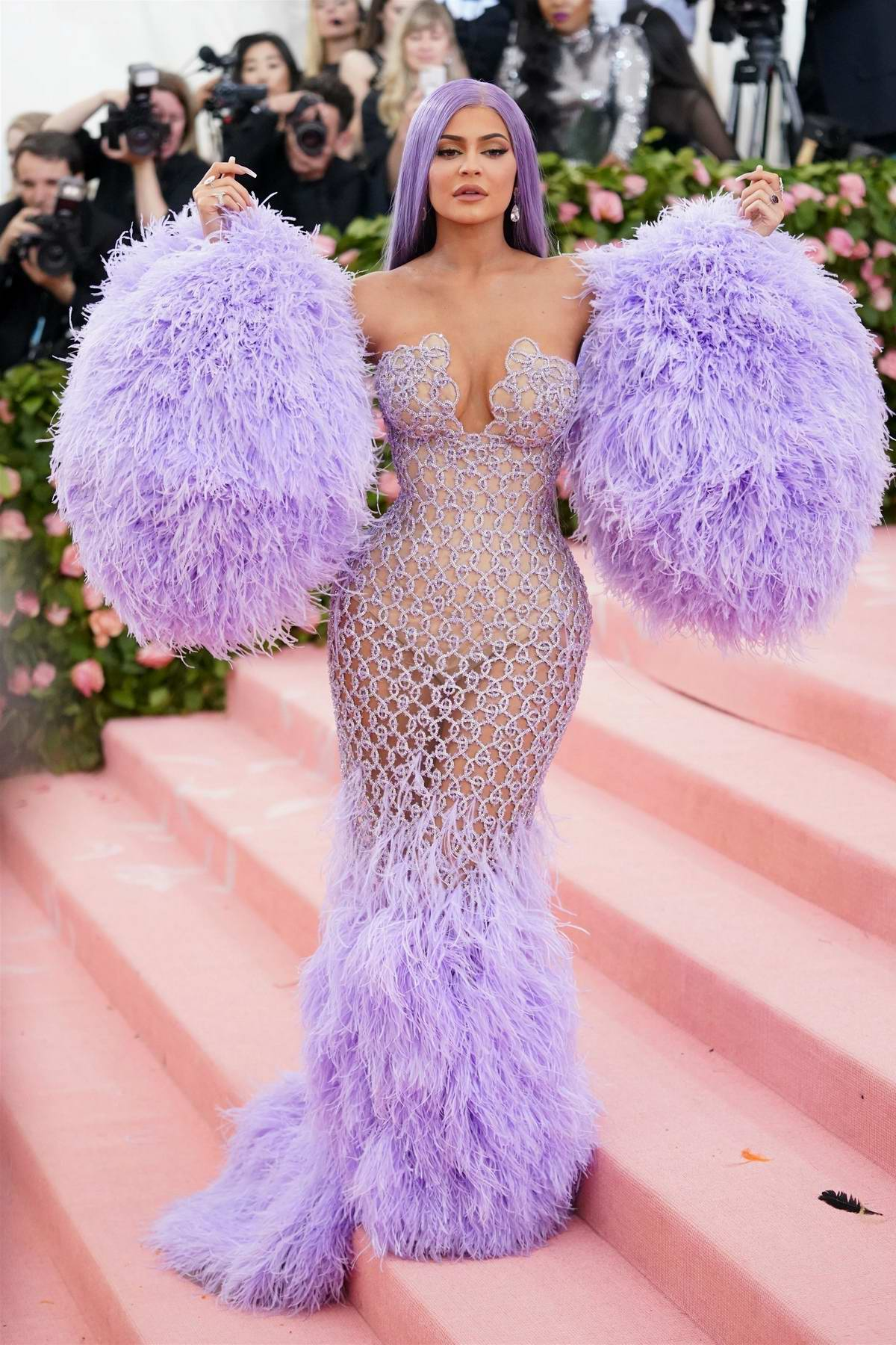 Kylie Jenner attends The 2019 Met Gala Celebrating Camp: Notes on Fashion in New York City