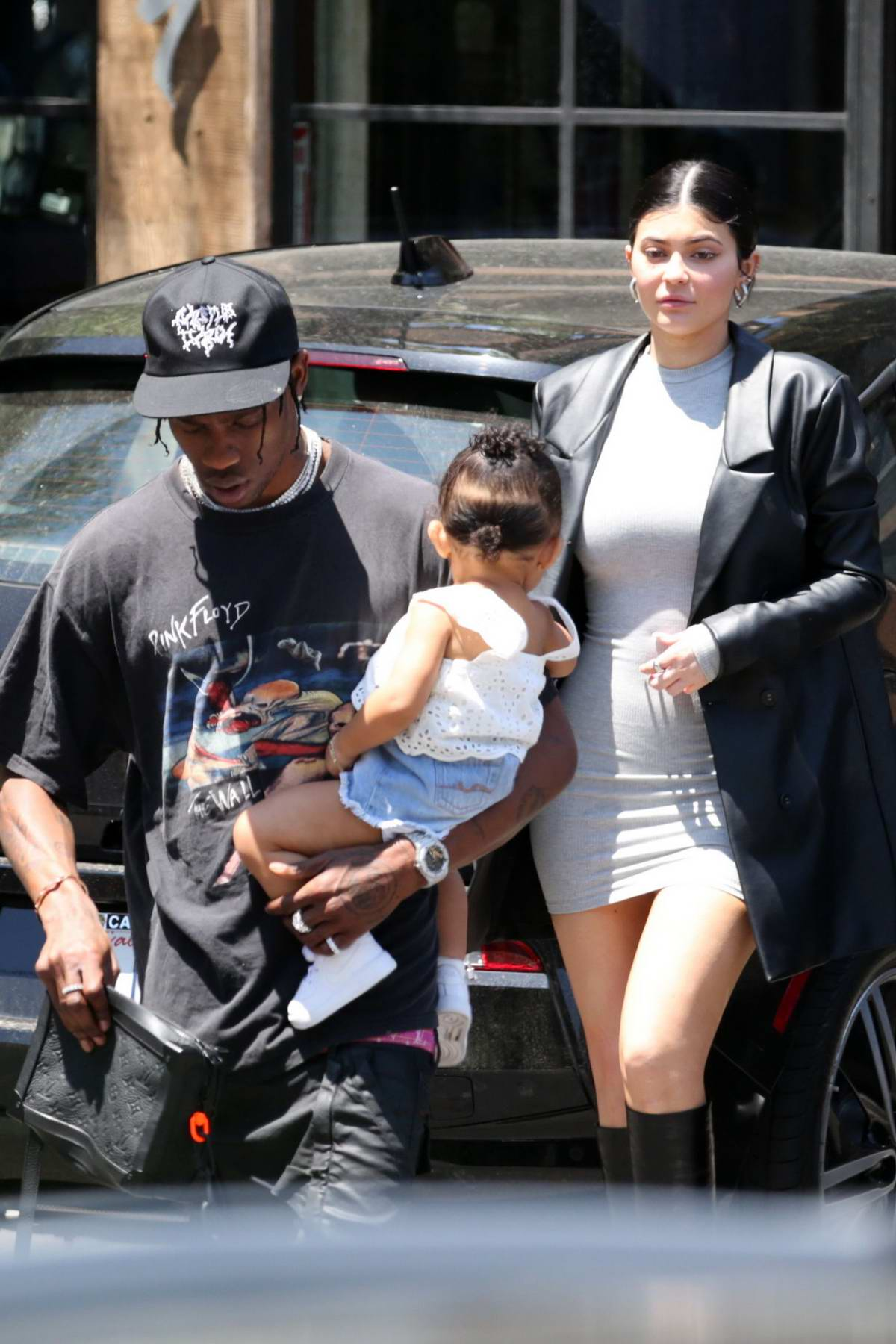 Kylie Jenner steps out with Travis Scott and daughter Stormi on Mother's day in Calabasas, California
