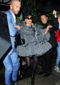 Lady Gaga leaves pre Met Gala party at Anna Wintour's apartment in New York City