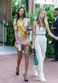 Lais Ribeiro looks lovely as she leaves her hotel with Kate Bock in Miami Beach, Florida