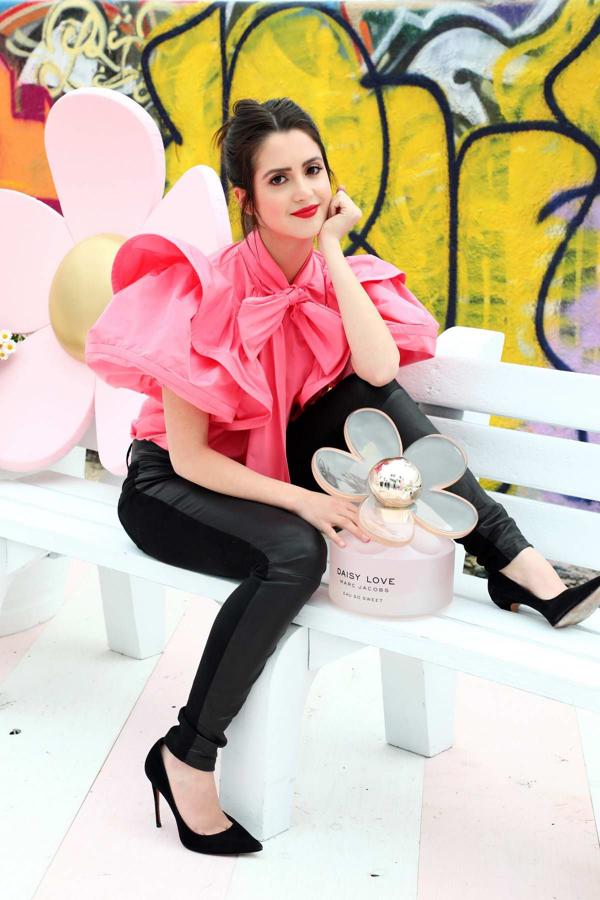 Laura Marano attends Marc Jacobs Daisy Love 'So Sweet' Fragrance Popup Event in Los Angeles