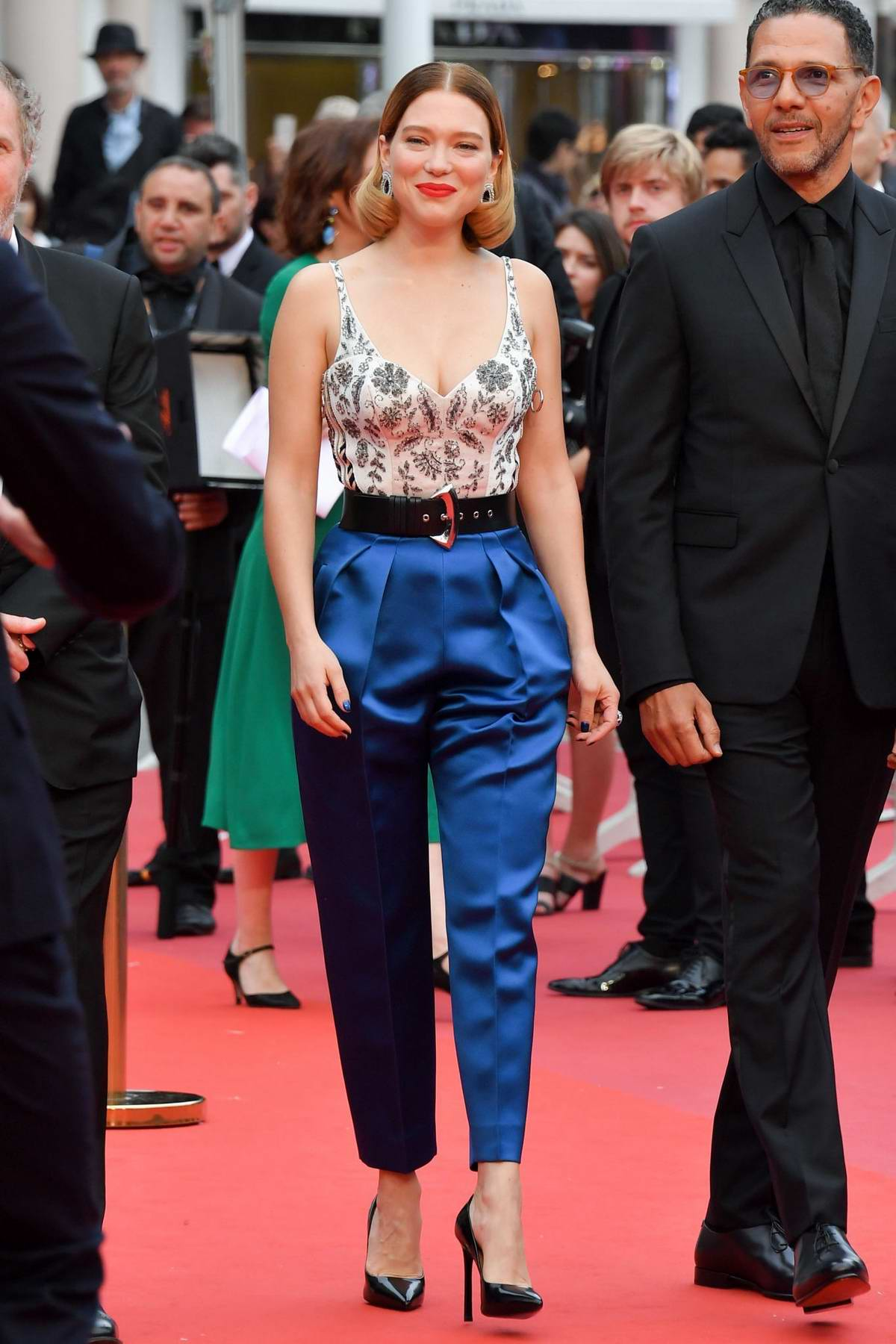 Lea Seydoux attends the screening of 'Oh Mercy! during the 72nd annual Cannes Film Festival in Cannes, France
