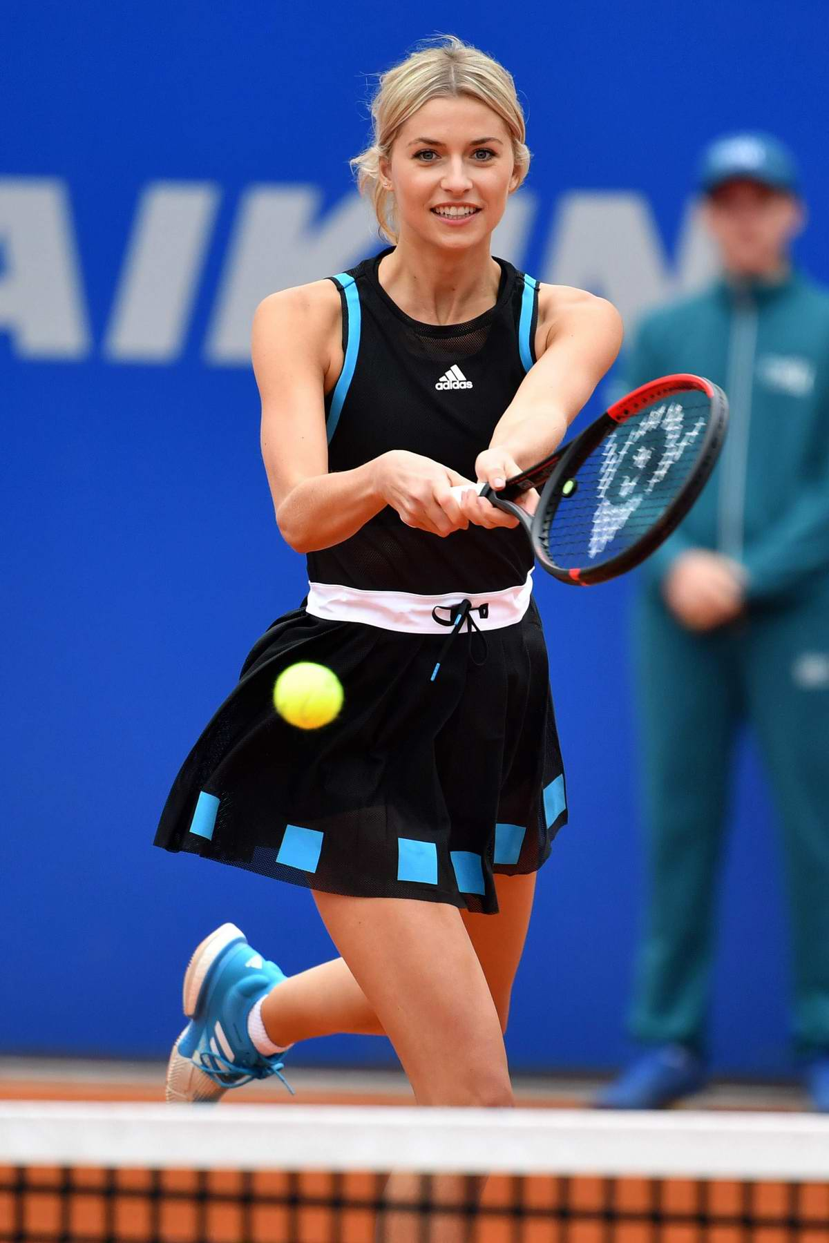 Lena Gercke joins Alex Zverev for an exhibition match at the BMW Open in Münich, Germany
