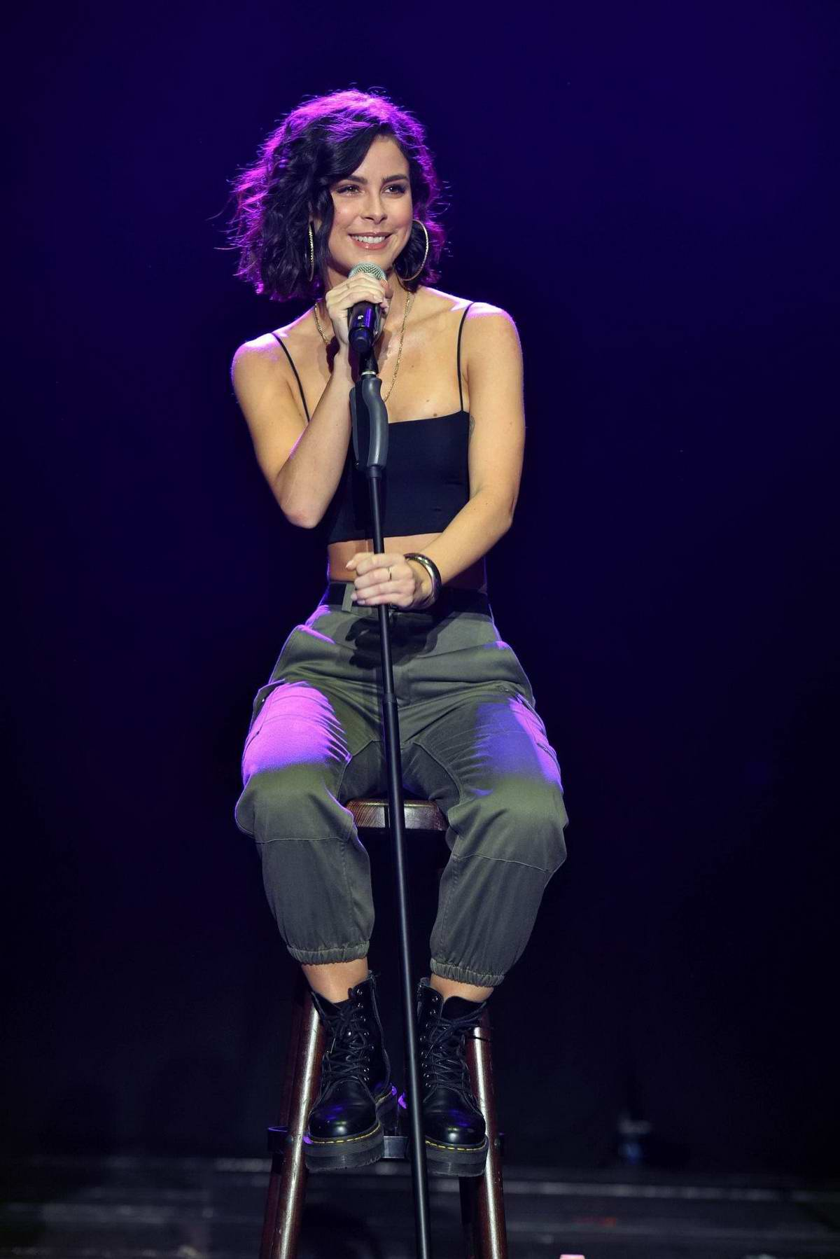 Lena Meyer-Landrut performs at Global Citizen event in Berlin, Germany